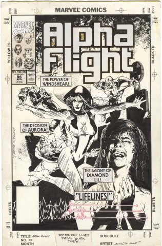 Alpha Flight #95 Cover