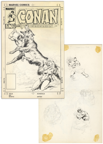 Conan the Barbarian #178 Unused Cover