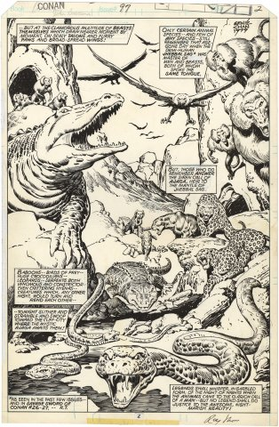 Conan the Barbarian #97 p2 (Signed Splash)