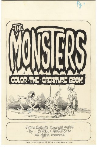 Monsters Color-the-Creature Book #1 p1