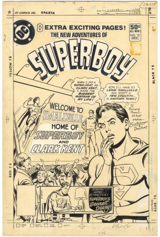 New Adventures of Superboy #12 Cover (Signed)