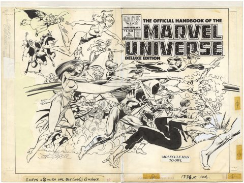 Official Handbook of the Marvel Universe #9 (Wrap around cover)