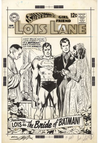 Superman's Girl Friend Lois Lane #89 Cover (Signed)