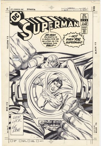 Superman #384 Cover (Signed)