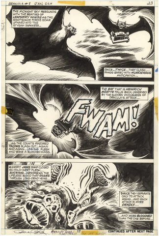 Tomb of Dracula #8 p17 (Signed)