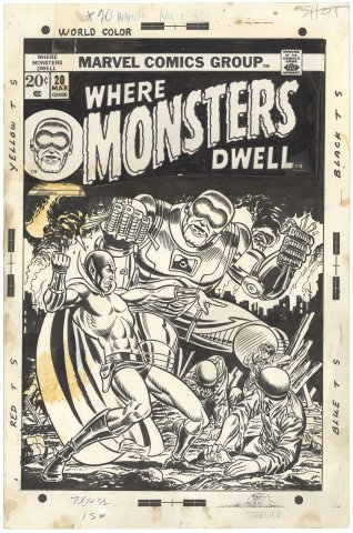 Where Monsters Dwell #20 Cover